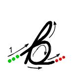 Cursive b
