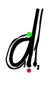 Pre-cursive d