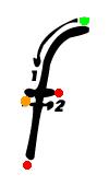 Pre-cursive f