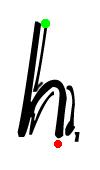 Pre-cursive h