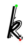 Pre-cursive k