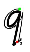 Pre-cursive q