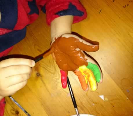 Turkey hand printing