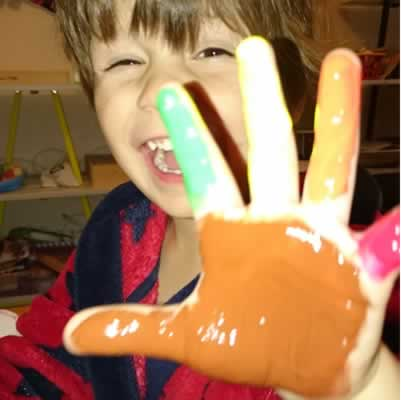 Seb painted hand