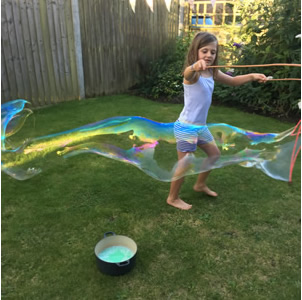 Homemade Giant Bubble Mixture